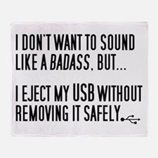Badass USB Eject Throw Blanket