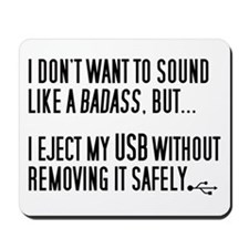 Badass USB Eject Mousepad