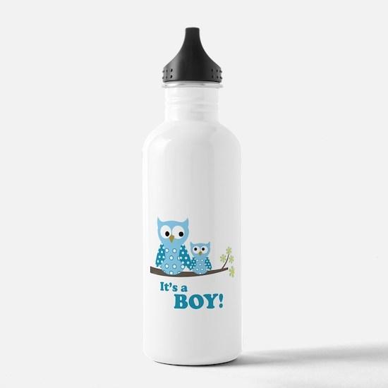 Blue Hoot Owls Water Bottle