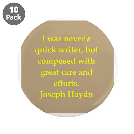 "Haydn 3.5"" Button (10 pack)"