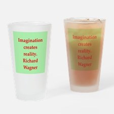 Richard wagner quotes Drinking Glass