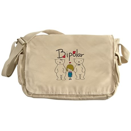 Bi-Polar Bear Messenger Bag