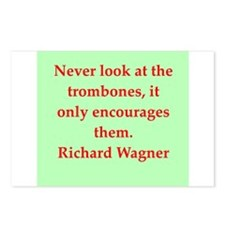 Richard wagner quotes Postcards (Package of 8)