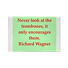 Richard wagner quotes Rectangle Magnet
