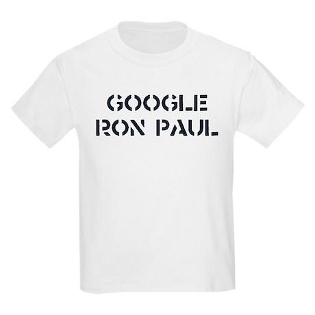 Google Ron Paul Kids Light T-Shirt