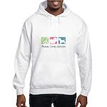 Peace, Love, Westies Hooded Sweatshirt