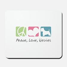 Peace, Love, Westies Mousepad