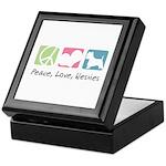 Peace, Love, Westies Keepsake Box