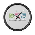 Peace, Love, Westies Large Wall Clock