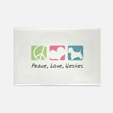 Peace, Love, Westies Rectangle Magnet (100 pack)
