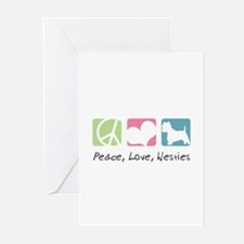 Peace, Love, Westies Greeting Cards (Pk of 10)