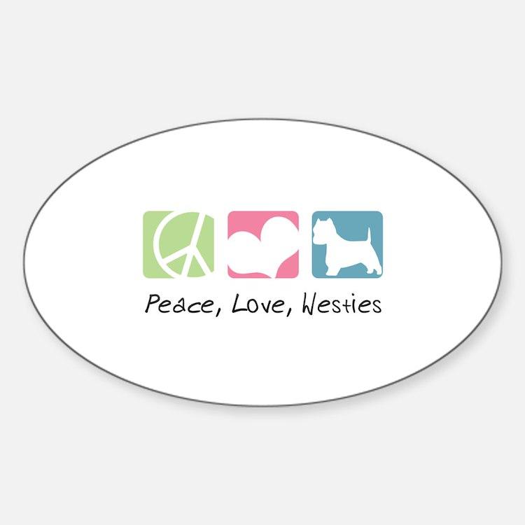 Peace, Love, Westies Decal