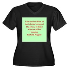 Richard wagner quotes Women's Plus Size V-Neck Dar