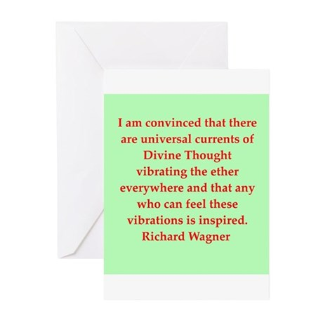 Richard wagner quotes Greeting Cards (Pk of 20)