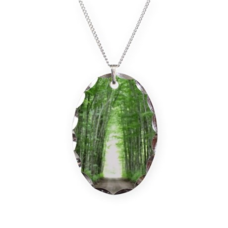 Cathedral Road Necklace Oval Charm