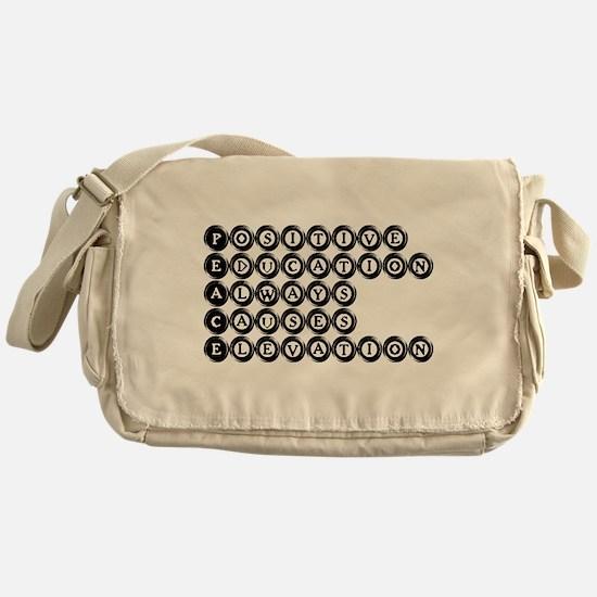 P.E.A.C.E. - Positive Educati Messenger Bag