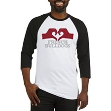 Heart for French Bulldogs Baseball Jersey