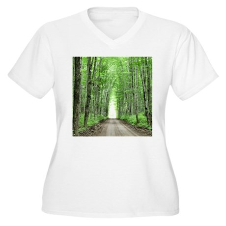 Cathedral Road Women's Plus Size V-Neck T-Shirt
