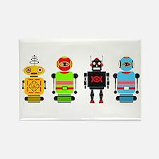 Cute Robots Rectangle Magnet