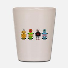 Cute Robots Shot Glass