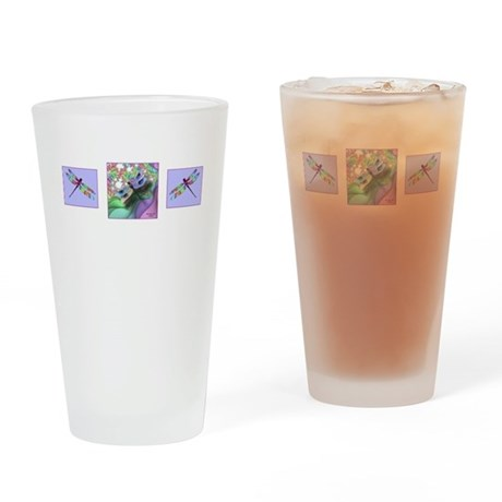 Dragonfly Trio Drinking Glass