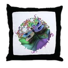 Dragonfly Swirl Throw Pillow