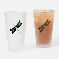 Green Dragonfly Drinking Glass