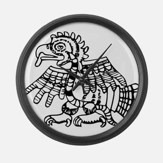 Maya Harpy Eagle Large Wall Clock