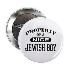 "Property of a Nice Jewish Boy 2.25"" Button"