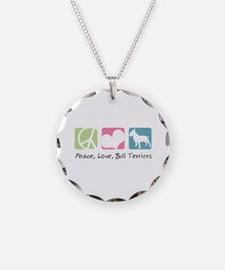 Peace, Love, Bull Terriers Necklace