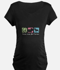 Peace, Love, Bull Terriers T-Shirt