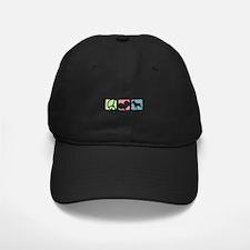 Peace, Love, Bull Terriers Baseball Hat