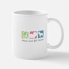 Peace, Love, Bull Terriers Mug