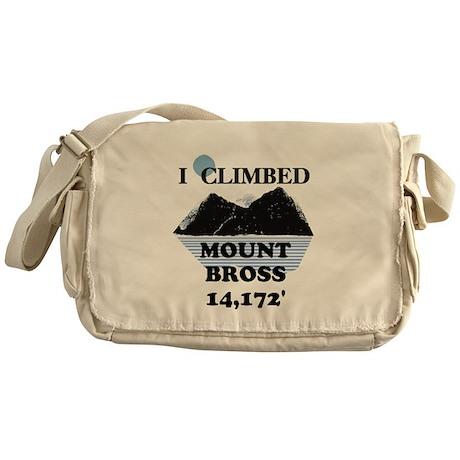 I Climbed Mount Bross Messenger Bag