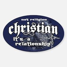 Christian/Relationship Sticker (Oval)