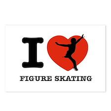I love Figure skating Postcards (Package of 8)