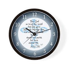 John 3:16 Wall Clock