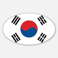 South Korean Flag Oval Decal