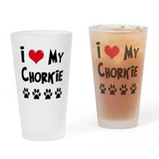I Love My Chorkie Drinking Glass