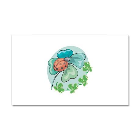 LadyBug on Four-Leafed Clover Car Magnet 20 x 12