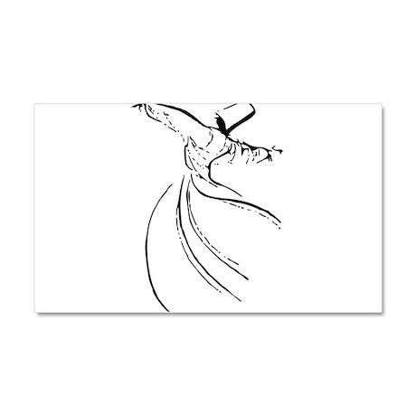 Whirling Sufi Dervish Car Magnet 20 x 12