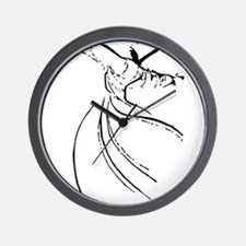Whirling Sufi Dervish Wall Clock
