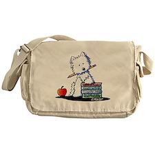 Back To School Westie Messenger Bag