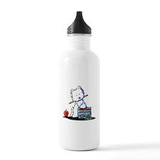 Back To School Westie Sports Water Bottle