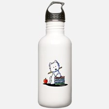 Back To School Westie Sports Water Bottle