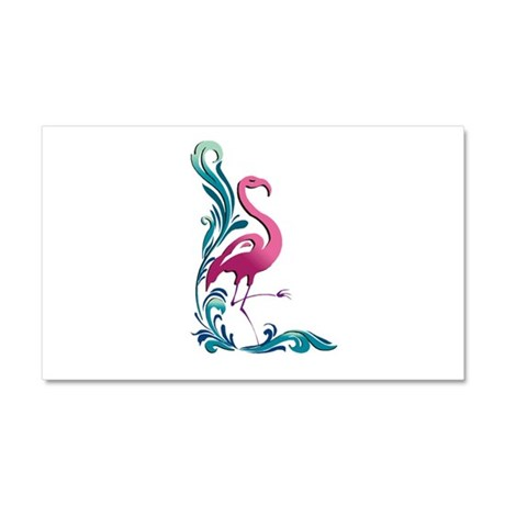 Flamingo Motif Car Magnet 20 x 12