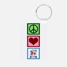 Peace Love Quilting Keychains