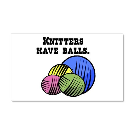 Knitters Have Balls! Car Magnet 20 x 12