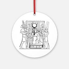 Tehuti, Ast/Isis, Amen-Ra Ornament (Round)