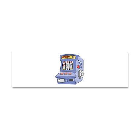 Slot Machine Car Magnet 10 x 3